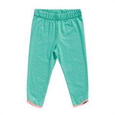 Fede grønne leggings med små pink prikker fra Phister og Philina mini