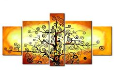 5 Piece Canvas Art, Tree of Life Painting, Abstract Painting, Extra Large Painting – Art Painting Canvas Tree Of Life Painting, Hand Painting Art, Online Painting, Acrylic Painting Canvas, Large Painting, Paintings Online, Large Artwork, Acrylic Artwork, Woman Painting