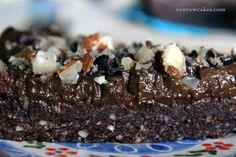 Raw chocolate brownie cake Chocolate Brownie Cake, Raw Chocolate, Raw Cake, Cakes, Desserts, Recipes, Food, Tailgate Desserts, Deserts
