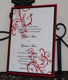 Stampin' Up  Wedding Invitations - -Don't forget to line the envelopes!