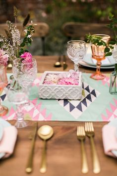 Aztec Wedding Table Design
