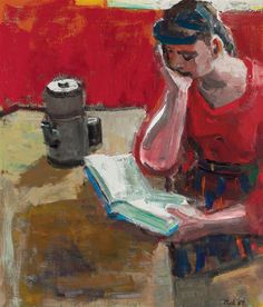 Woman Reading — David Park