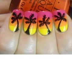 This series deals with many common and very painful conditions, which can spoil the appearance of your nails. SPLIT NAILS What is it about ? Nails are composed of several… Continue Reading → Sunset Nails, Beach Nails, Hair And Nails, My Nails, Palm Tree Nail Art, Uñas Diy, Split Nails, Vacation Nails, Hawaii Vacation