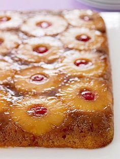 Serve the pineapple upside-down cake when it's still a little warm -- people will flip for this surprisingly easy dessert.