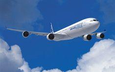 Télécharger fonds d'écran Airbus A340-600 RR, 4k, passenger plane, Airbus A340, civil aviation, A340, Airbus