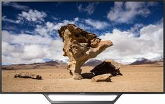"Sony - 55"" Class (54.6"" Diag.) - LED - 1080p - Smart - HDTV - Black - Front Zoom"