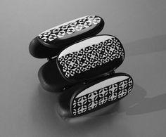 Bracelet Retro Black and White 2 | Bracelet with Retro cane … | Flickr