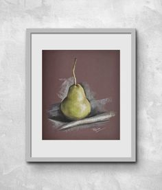 Buy Still life with a pear, Pastel drawing by Aleksandra Popova on Artfinder. Discover thousands of other original paintings, prints, sculptures and photography from independent artists.
