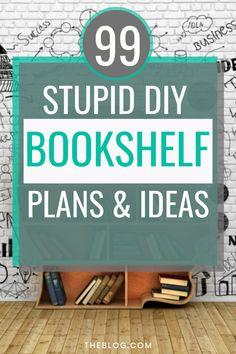 Diy Bookshelf Plans, Bookshelf Makeover, Bookshelves Kids, Bookshelf Styling, Bookshelf Design, Bookcases, Wood Shop Projects, Diy Projects To Try, Furniture Makeover