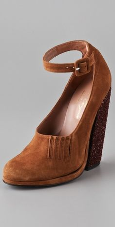 the bordeaux glitter heel will be perfect for fall! AND they're on sale!