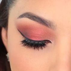 Copper Eye Makeup, Shimmer Eye Makeup, Eye Makeup Steps, Smokey Eye Makeup, Eyebrow Makeup, Glam Makeup, Eyeshadow Makeup, Natural Makeup, Makeup Tips