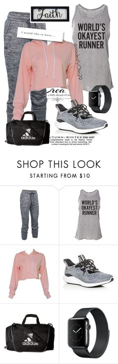 """let's work out"" by modestlychic29 on Polyvore featuring Love Quotes Scarves, Under Armour, adidas, New View, workout, WhatToWear, Modest, woman and modestlychic"