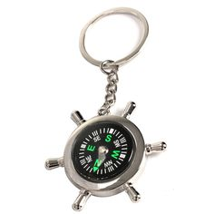Survival Wheel Ruder Compass with Keychain For Outdoor Camping Hiking Climbing Free Shiping #women, #men, #hats, #watches, #belts, #fashion