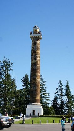 Astoria Column in Astoria, Oregon. I climbed it twice and that's enough.