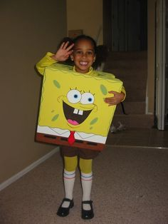 Homemade Spongebob Costume People Thought SpongeBob was Part of the Show! | Homemade Costumes and Halloween costumes  sc 1 st  Pinterest & Homemade Spongebob Costume: People Thought SpongeBob was Part of the ...