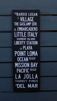 Inspired by vintage Tram Scrolls, this poster features the coastal neighborhoods of San Diego from Bario Logan to Del Mar. The print is 12