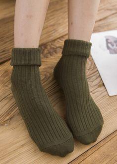 women Pure  Harajuku Retro Socks