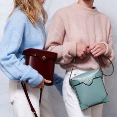 Founded By Two Turkish Sisters, Combines Old School Leather Craftsmanship With A Luxe, Modern Aesthetic We're Obsessed By Shopbop Pantone 2016, Minimal Wardrobe, Playing Dress Up, Old School, Shoulder Bag, Instagram Posts, Leather, How To Wear, Bags