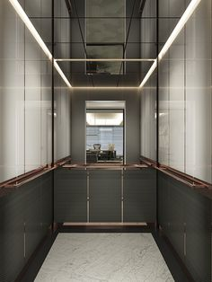 Hyundai Elevator Turkey_Car Design – CKMY Architects Source by jkristof Lobby Interior, Interior Architecture, Modern Interior, Interior Design, Elevator Lobby Design, Lift Design, Design Design, House Design, Rooftop Restaurant