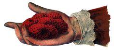 Victorian hands full of...raspberries?