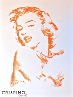 Marilyn Monroe - Handmade portrait with the single lines technique.  Please find more on www.CrispinoLineArt.com or www.etsy.com/shop/CrispinoLineArt