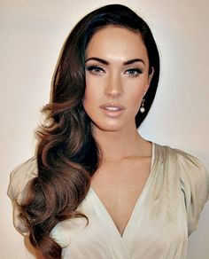 megan fox pin up side curls