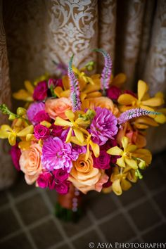 Beautiful and Bright bouquet. Design| Beautiful Blooms, Photography| Asya Photography