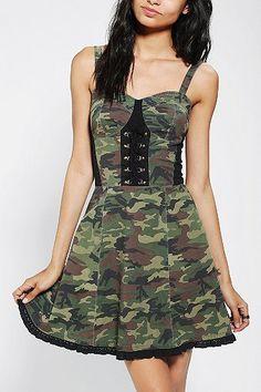 Super Cute Tripp Nyc Camo Zipper Mini Skirt Women's Clothing