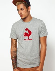 Le Coq Sportif T-Shirt With Old School Rooster