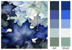 color palette - blues & purples