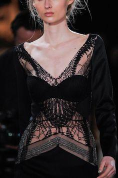 Gosia Baczynska at Paris Fashion Week Fall 2014 - Details Runway Photos Fashion Week Paris, Runway Fashion, Womens Fashion, Haute Couture Style, Dark Fashion, High Fashion, Fashion Details, Fashion Design, Vogue