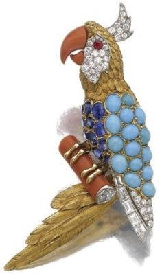 CollectingFineJewels: The CARTIER and VAN CLEEF 1960's parrot brooches