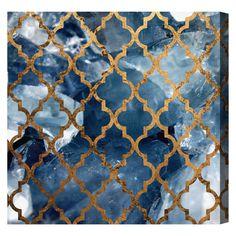 Arabesque Bronze Canvas Print by Oliver Gal