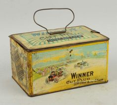Lot # : 124 - Winner Cut Plug Tobacco Tin.