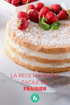 Desserts Sains, Vanilla Cake, Fruit, Food, Strawberries, Cooking Recipes, Essen, Meals, Yemek