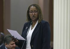 Sen. Holly Mitchell, D-Los Angeles, speaks before the Senate on June 2, 2016.