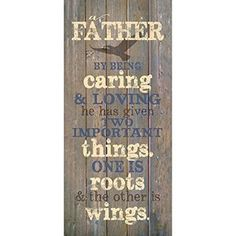 Father By Being… New Horizons Wood Textual Plaque