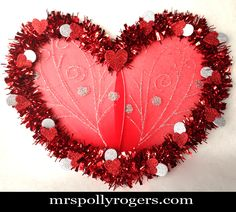 Click here to DIY Fairie Wing Valentine Wreath.  Dollar Tree supplies only 3 Dollars!!  Blog & Photos from MrsPollyRogers.com