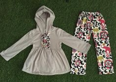 Such a cute print for that comfy hoodie day! Divas on a dime coop, baby girl, toddler girl, little girls, outfits, fashionista, icings, boutique outfit, headbands, leggings, holiday, ruffles