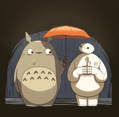 Totoro, Baymax, and Groot ❤️❤️❤️