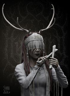 ArtStation - Character 2, slava khristenko Pagan Music, Pagan Art, Medieval Fantasy, Dark Fantasy, Fantasy Art, Viking Aesthetic, Witch Aesthetic, Character Inspiration, Character Design