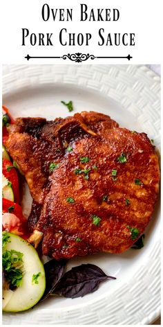 Oven Baked Pork Chop Sauce -The combination of the sauce and the oven baking give you pork that is full of luscious flavor and fork tender. It's amazing! via @https://www.pinterest.com/BunnysWarmOven/bunnys-warm-oven/
