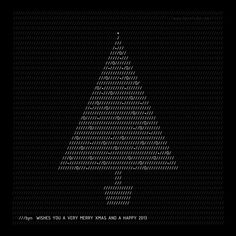 Christmas cards from architects, designers and brands sent to Dezeen. Christmas Tree Graphic, Christmas Graphic Design, Christmas Tree Design, Christmas Graphics, Christmas Holidays, Xmas Cards, Holiday Cards, Christmas Ecards, Christmas Invitations