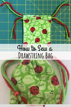 How To Sew a Drawstring Bag Plastic Bag Dispenser, Large Eyes, Drawstring Bags, Learn To Sew, Hustle, Hand Sewing, Singers, Sewing Patterns, Purses