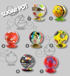 cocoon-shop.fr - #pylones #design #sucrier #sucre / Boule à sucre Pylones Sugar Pot !