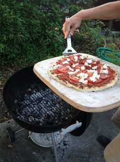 How to Grill Pizza - this is something my family really loves to eat. It's so easy, just follow the directions for grilling the dough & add your fave toppings!