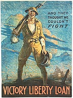 Original WWI poster AND THEY THOUGHT WE COULDN'T FIGHT