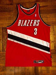 Vintage 1998 Damon Stoudamire Portland Trailblazers Nike Jersey Size 52  champion schrempf kevin duckworth scottie pippen 2509da269