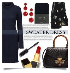"""""""Sweater Dress"""" by mistressofdarkness ❤ liked on Polyvore featuring DUBARRY, Senso, Gucci, J.Crew, Kate Spade, Tom Ford and Chanel"""