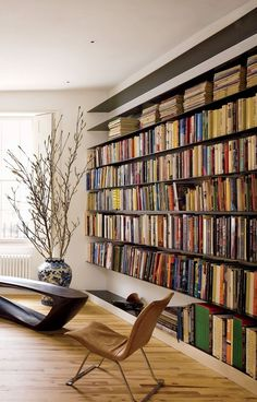 66 trendy home library decor modern Beautiful Library, Beautiful Homes, Home Library Design, House Design, Modern Library, Library Ideas, Library In Home, Library Bookshelves, Bookcases